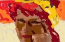 ingekleurd zelfportret